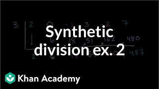Synthetic division example 2 | Polynomial and rational functions | Algebra II | Khan Academy