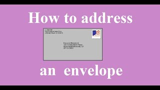 How to address aฑ envelope