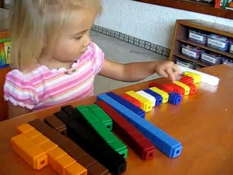 toddler---math:-colored-number-cubes-to-make-patterns.-tall-and-short,-big-and-small.