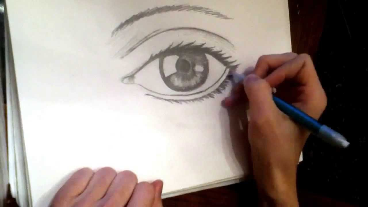 Human eye speed drawing pencil youtube ccuart Gallery