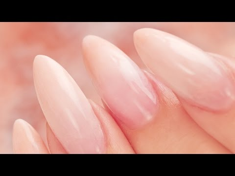 Peach French Fade Almond Acrylic Nails - Step by Step Tutorial