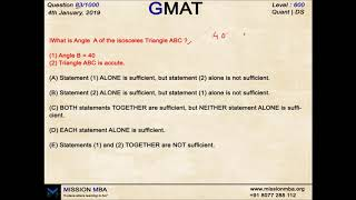 DAILY DOSE 83 | GMAT FREE QUESTIONS | MISSION MBA