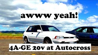AE82 Corolla FX16 - Autocross with 4AGE 20 valve!