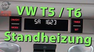 VW T5 / T6 Standheizung / Luftstandheizung: Bedienung und Details