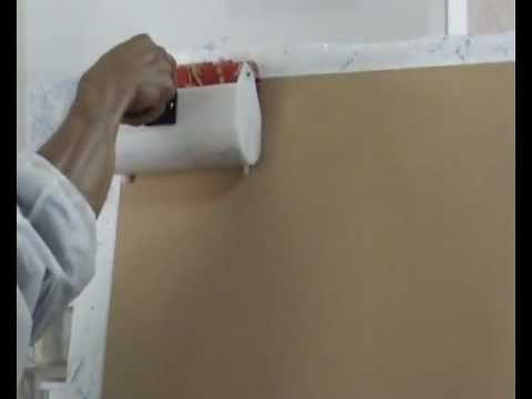 How To Use A Hard Pattern Rubber Roller With Paint