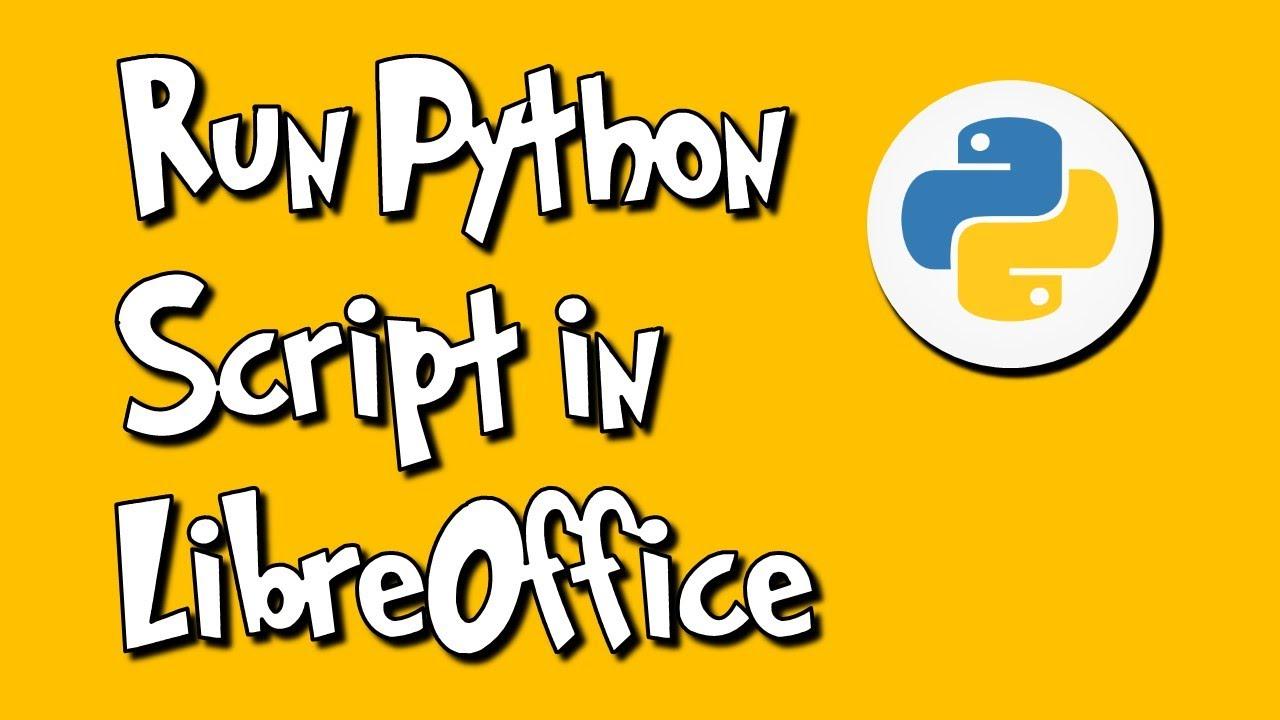 Run Python Script in LibreOffice