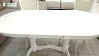 видео Обеденный раскладной стол EVA (Ева), Butter White