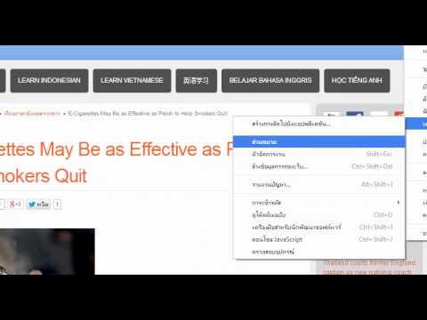 แปลภาษาอังกฤษในหน้าเว็บด้วย Extension Google Dictionary (by Google)