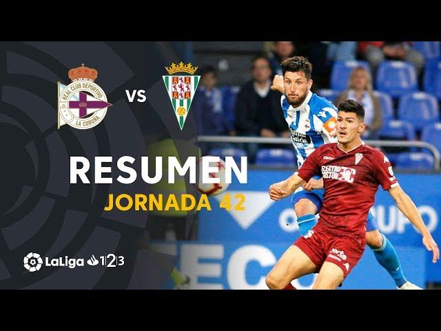Resumen de RC Deportivo vs Córdoba CF (2-0)