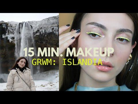 Mi maquillaje cuando viajo (bonito, rápido y fácil) GRWM ISLANDIA | Anna Sarelly