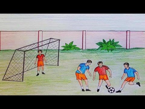Как нарисовать спортивную площадку