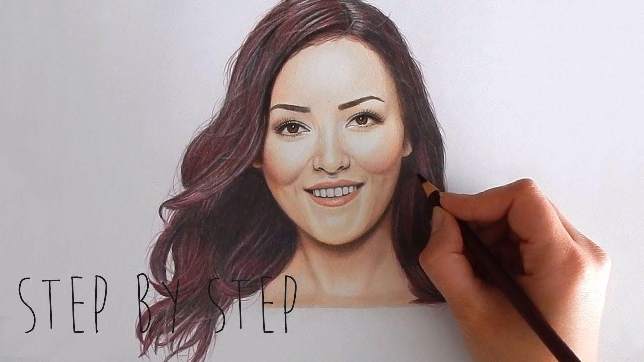 Step by Step | Drawing Mascha Feoktistova - Beautygloss ... Emmy Kalia
