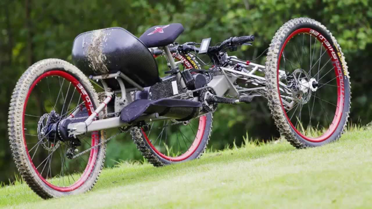 The Explorer III off-road handcycle (e-bike) - YouTube