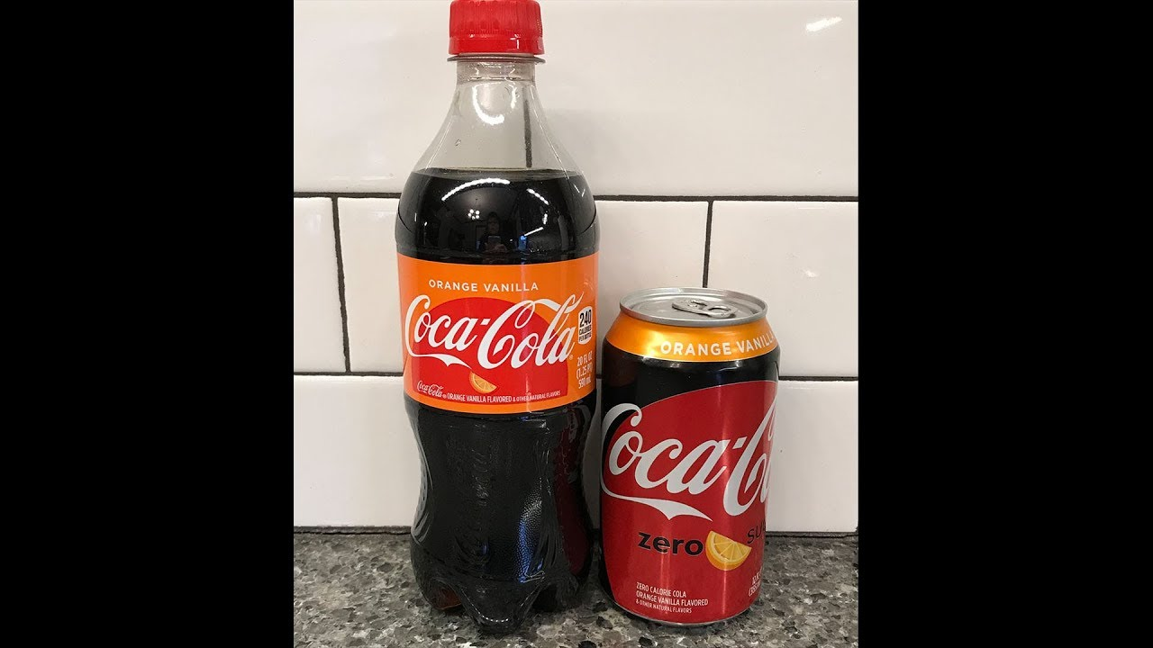 Orange Vanilla Coke & Orange Vanilla Coke Zero Review