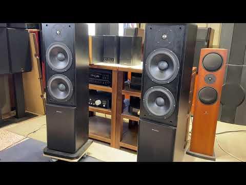 【夢響音響工作室】山水SANSUI S-T900V 兩音路三單體雙八吋落地型喇叭 一元起標!!