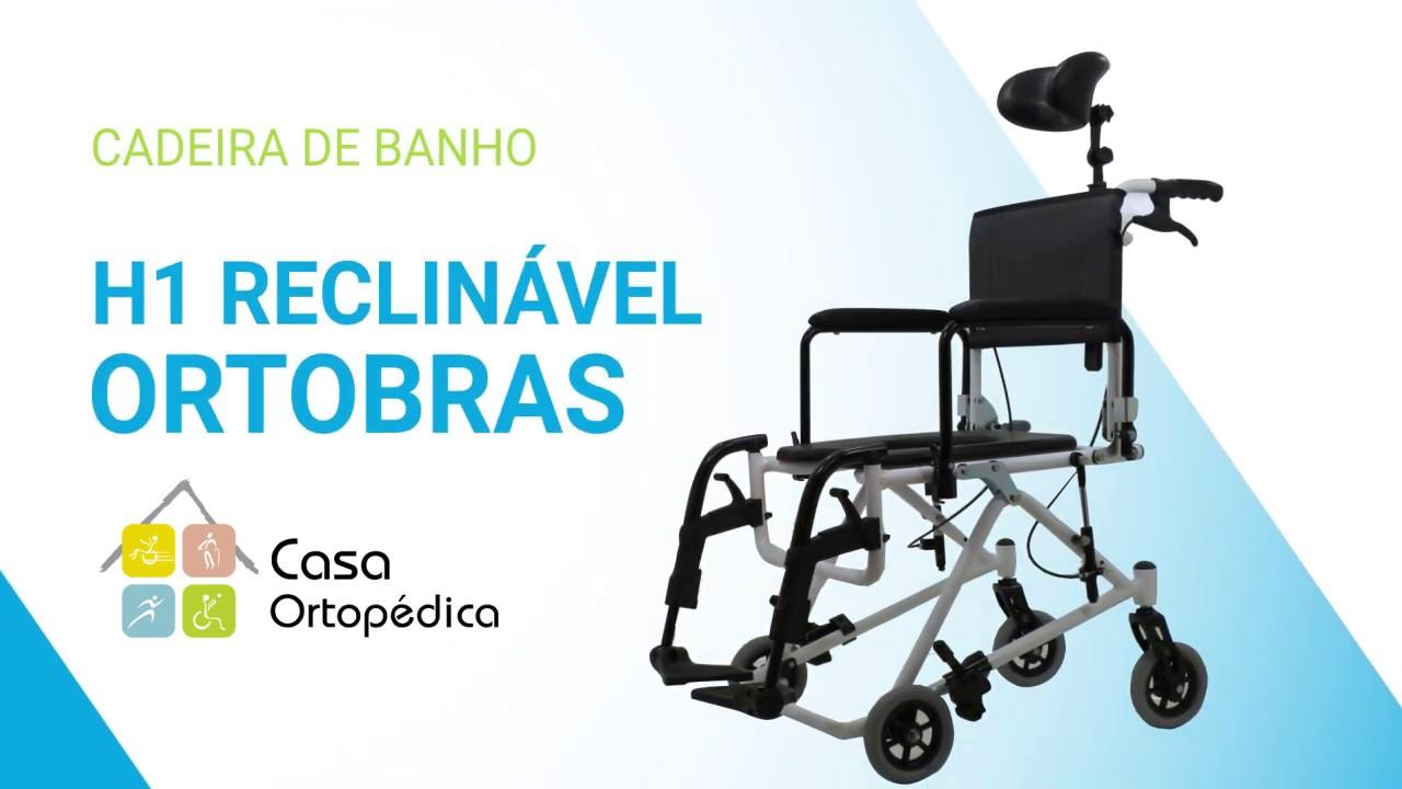 8d1e78c1e Cadeira de rodas banho higiênica H1 reclinável Ortobras Casa Ortopédica