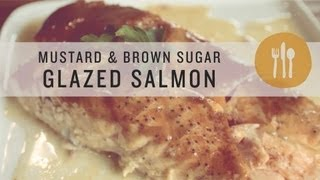 Mustard And Brown Sugar Glazed Salmon - Superfoods