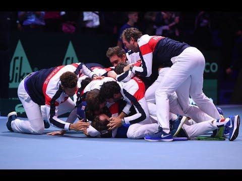 France wins the Davis Cup !!!  la pouille defeats Steve Darcis to clinch a 10th title for the French