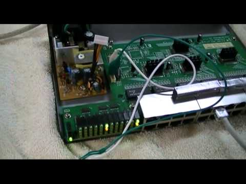 Repair Linksys 24-port Ethernet Switch - YouTube