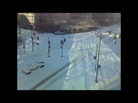 Snow timelapse in downtown Washington, D.C.