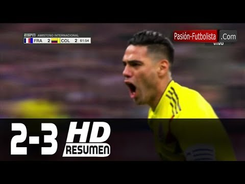 Francia vs Colombia 2-3 RESUMEN GOLES Amistoso Internacional [Friendly-Match] 23/03/2018