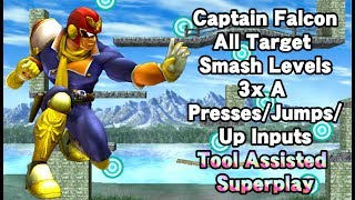 [TAS] Project M: All Captain Falcon Target Smash Levels - 3x A Presses/Jumps/Up Inputs