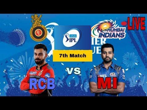 Vivo ipl rcb vs mumbai live score