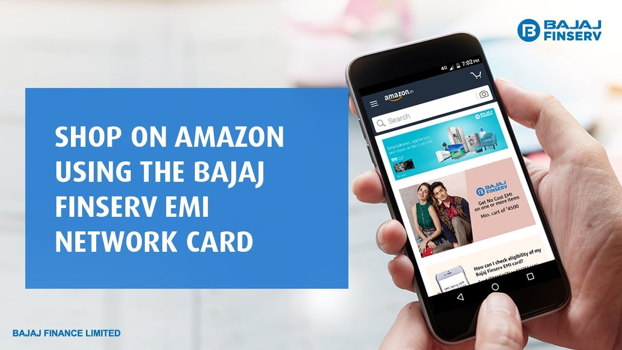 Shop on Amazon Using Bajaj Finserv EMI Network Card
