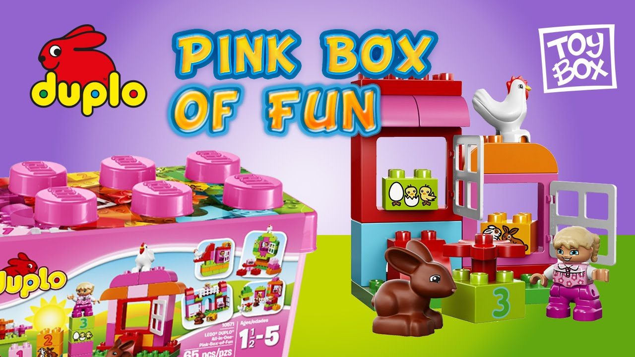 LEGO DUPLO Creative Play 10571 All in One Pink Box of Fun