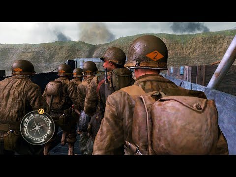 THE WW2 D-DAY MISSION! (Call of Duty 2 Gameplay)