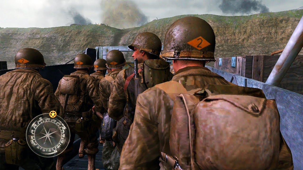 The Ww2 D Day Mission Call Of Duty 2 Gameplay Youtube