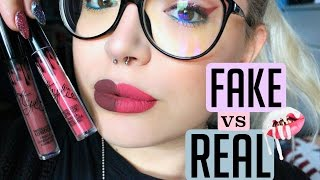 REAL vs FAKE €2 KYLIE COSMETIC LIP KIT! (swatch&info) | ilamakeup02♡