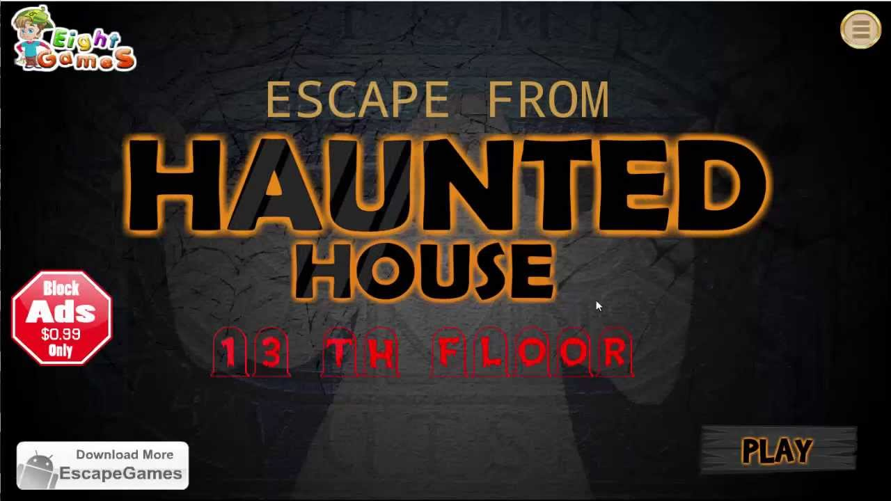 Escape from haunted house 13th floor walkthrough youtube for Minimalist house escape 3 walkthrough