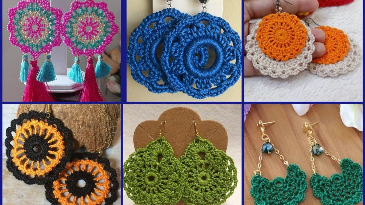 Trendy And Classy Fashion Of Crochet Earrings Designs Patterns Ideas Youtube
