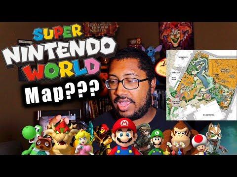 Universal Orlando Super Nintendo World Map???