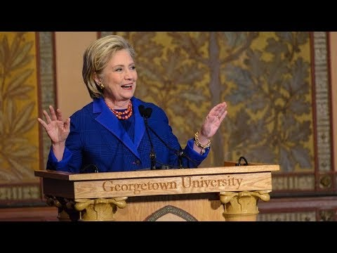 Hillary Clinton Presents Human Rights Awards at Georgetown University