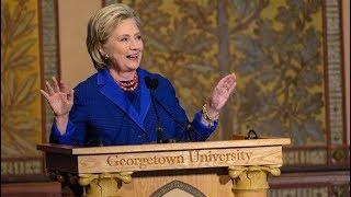 Hillary Clinton Presents Human Rights Awards at Georgetown University
