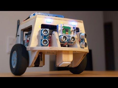 Balancing robot video 3 - Obstacle avoidance behaviour