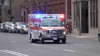 Denver Fire Truck 4 & EMS Responding