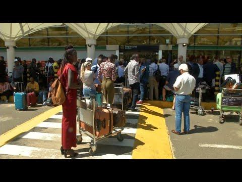 Kenya Airport Strike: Police Fired Tear Gas As Travellers Stranded At Nairobi Airport
