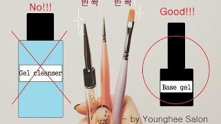 젤 브러쉬 세척하기+보관하기/How to clean gel brushes ㅣ Younghee Salon
