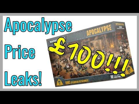 40k Apocalypse Price Leaks! Ork Spearhead Detatchment Box £100!