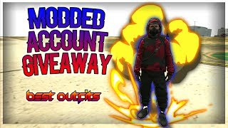 MODDED ACC. GIVEAWAY   BEST MODDED OUTFITS   GTA V ONLINE