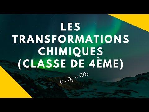 Les Transformations Chimiques (physique-chimie - 4ème)