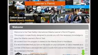 Alberta Learners Permit preparation online course preview