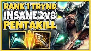 #1 TRYNDAMERE WORLD JUNGLE PENTAKILL IN HIGH-ELO (FT. TRICK2G) - League of Legends