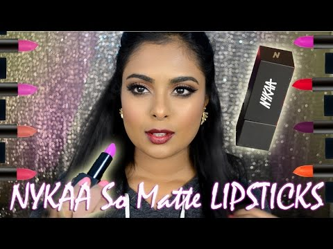 Worth The Hype? Nykaa So Matte Lipsticks - Honest Review & Swatch Of All Shades!!