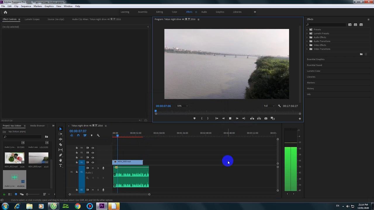 Hướng dẫn gi  âm  bằng phần mềm Adobe Premiere