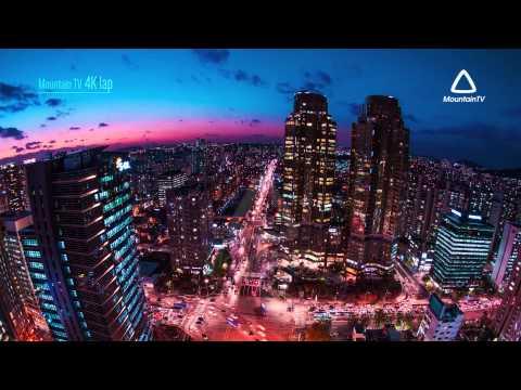 AMAZING Timelapse of SEOUL KANGNAM South Korea (4k UHD, Ultra HD, Demo content, Mountain TV)