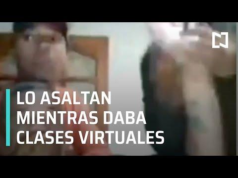 Asaltan a profesor mientras daba clases virtuales en Brasil - Las Noticias con Hurtado